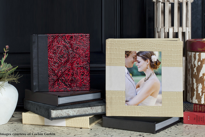 Mosaic albums, wedding albums, leather wedding albums
