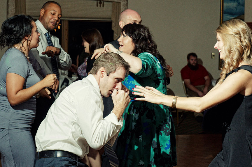 Looks like everyone was having a great time dancing at Megan and Rob's reception at the Irish-American Club